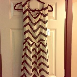 ECI New York Dress Black & White Stripes *new*